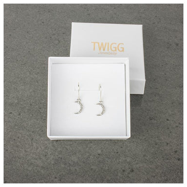 Twigg Wanderlust Silver Moon Earrings | Koop.co.nz
