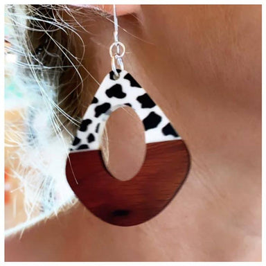 Twigg Kite Black & White Wood Earrings | Koop.co.nz