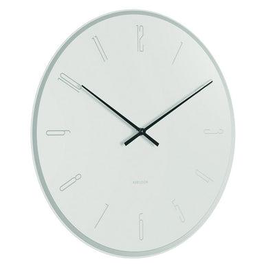 Karlsson Mirror Numbers Wall Clock - White (40cm) | Koop.co.nz