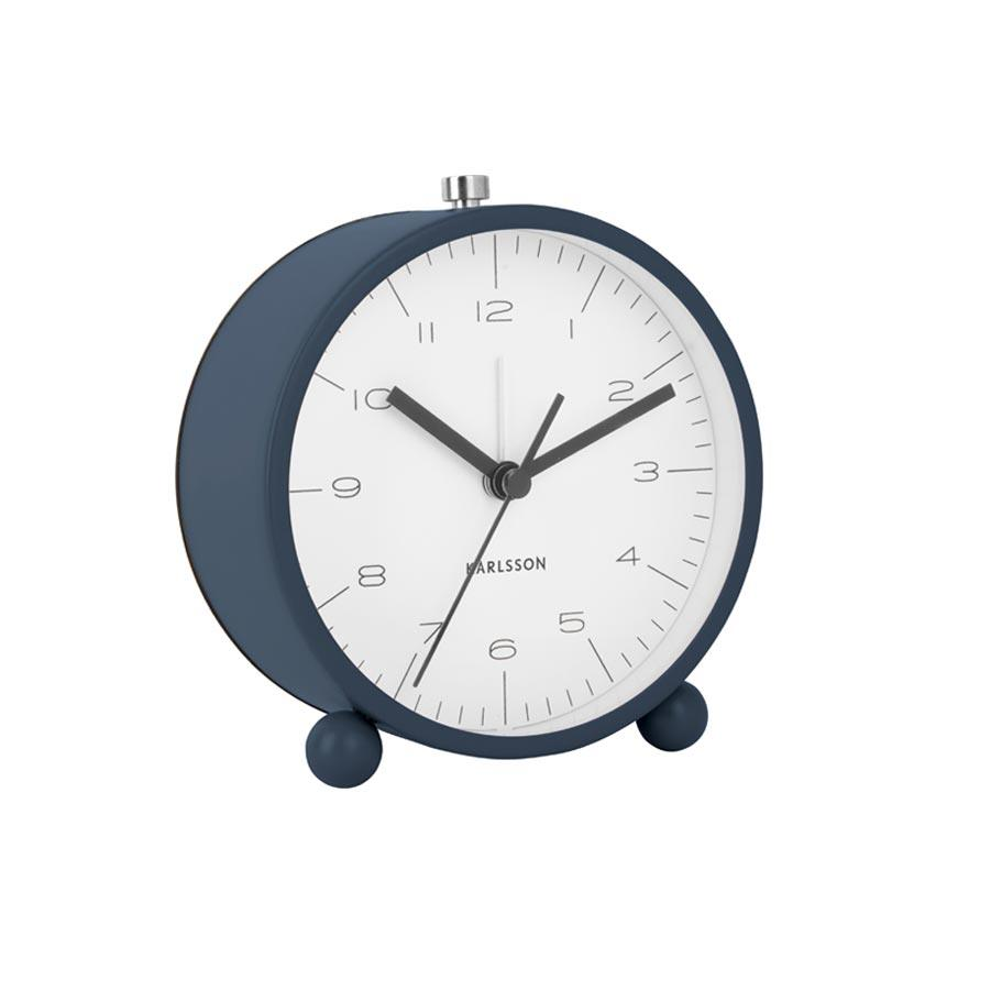 Karlsson Pellet Feet Alarm Clock with Light - Blue | Koop.co.nz