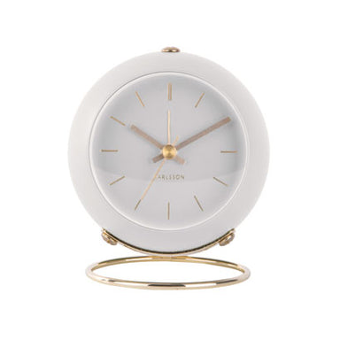 Karlsson Globe Alarm Clock - White | Koop.co.nz