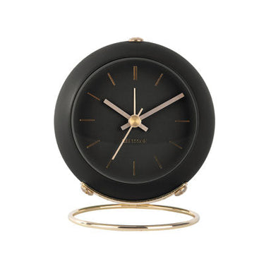 Karlsson Globe Alarm Clock - Black | Koop.co.nz