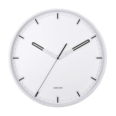 Karlsson Dipped Wall Clock - White (40cm) | Koop.co.nz