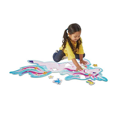Peaceable Kingdom Shimmery Unicorn Floor Puzzle (44pc) | Koop.co.nz