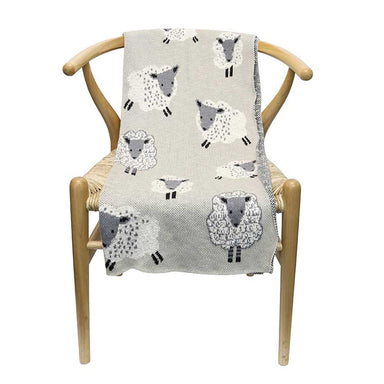 Le Forge Baby Throw Blanket – Lambs | Koop.co.nz