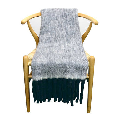 Le Forge Wool Blend Throw – Dark Blue | Koop.co.nz
