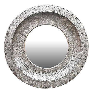 Le Forge Large Silver Montana Mirror (86cm) | Koop.co.nz