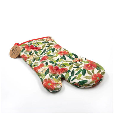 100% New Zealand Pohutukawa Print Oven Glove | Koop.co.nz