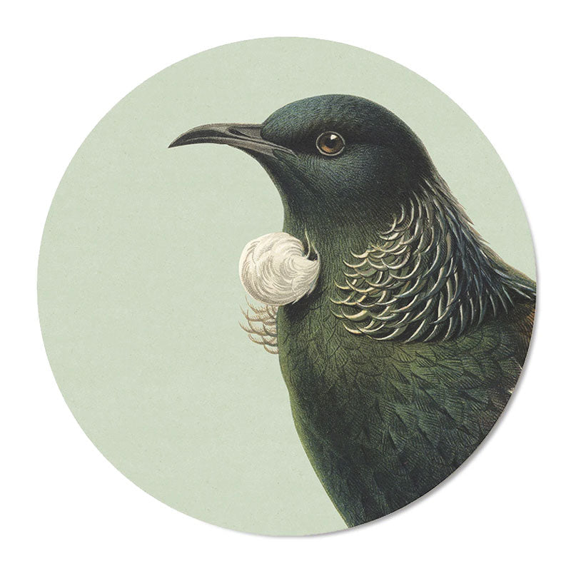 100% New Zealand Hushed Green Tui Placemat Set/6 | Koop.co.nz