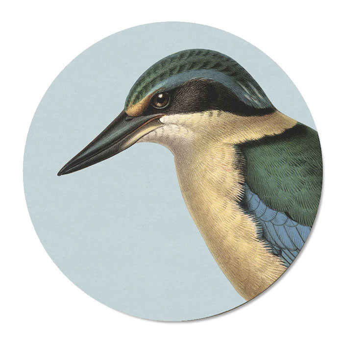 100% New Zealand Hushed Blue Kingfisher Placemat Set/6 | Koop.co.nz