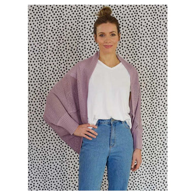 Hello Friday Crowd Pleaser Cardigan – Mauve | Koop.co.nz