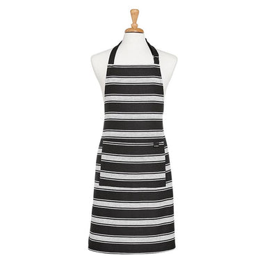 Ladelle Black Butcher Stripe Apron | Koop.co.nz