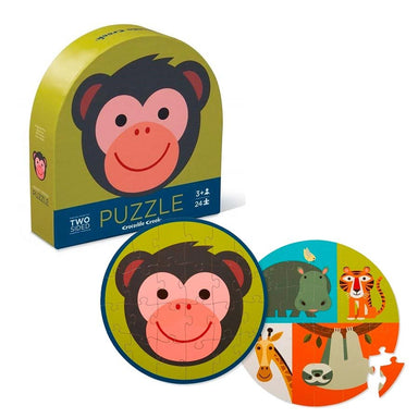 Crocodile Creek Two Sided Puzzle - Monkey Friends (24pc) | Koop.co.nz