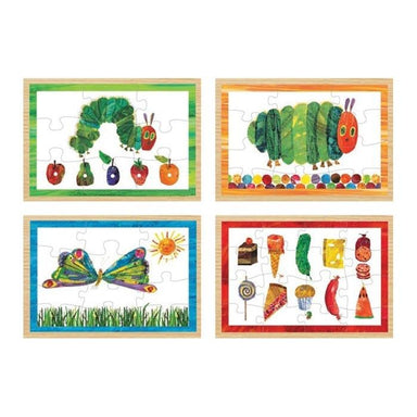 University Games Eric Carle - The Very Hungry Caterpillar 4 in 1 Wooden Jigsaw Puzzle | Koop.co.nz