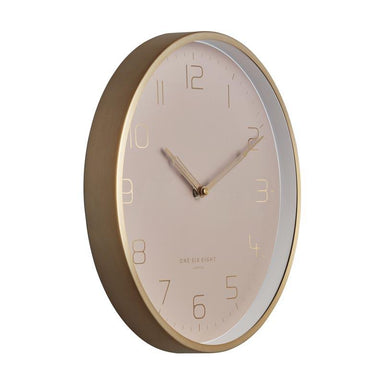 One Six Eight Lily Dusty Rose Clock (30cm) | Koop.co.nz
