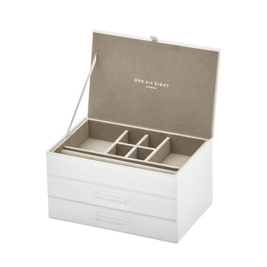 One Six Eight Gabriella Jewellery Box - Medium White | Koop.co.nz