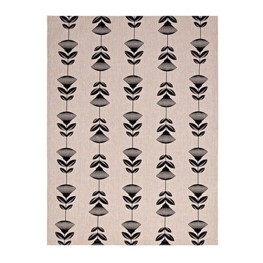 Linens & More Pohutukawa Tea Towel - Black | Koop.co.nz