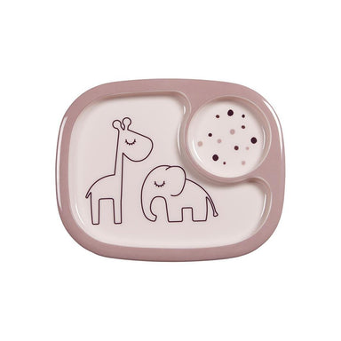 Done By Deer Dreamy Dots Mini Compartment Plate – Powder | Koop.co.nz