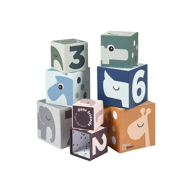 Done By Deer Deer Friends Stacking Cubes 123 | Koop.co.nz