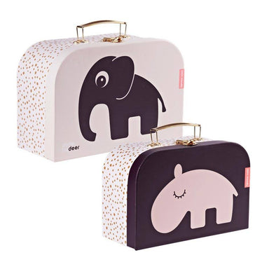 Done By Deer Deer Friends Suitcase Set – Powder | Koop.co.nz