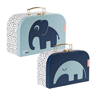 Done By Deer Deer Friends Suitcase Set – Blue | Koop.co.nz