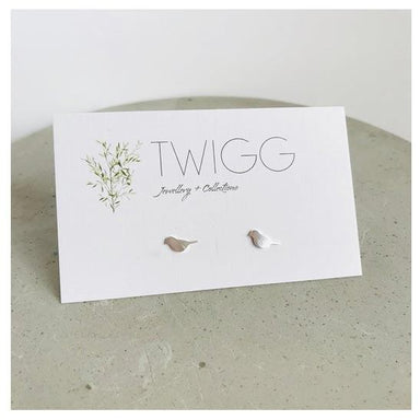 Twigg Silver Bird Stud Earrings | Koop.co.nz
