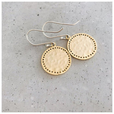 Twigg Solice Pitted Gold Earrings | Koop.co.nz