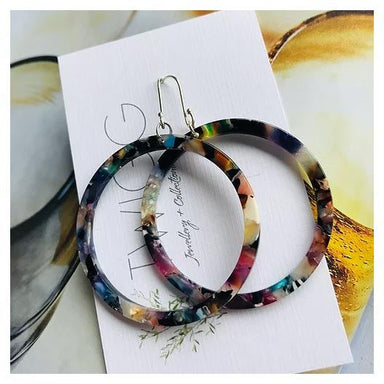 Twigg Multicoloured Hoop Earrings - Small | Koop.co.nz