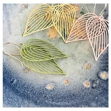 Twigg Green Leaf Earrings | Koop.co.nz