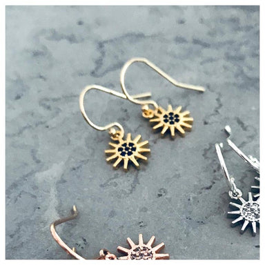 Twigg Wanderlust Luna Gold Sun Earrings | Koop.co.nz