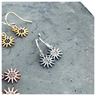 Twigg Wanderlust Luna Silver Sun Earrings | Koop.co.nz