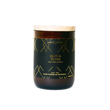 Lantern Cove Amberesque Candle – Olive & Thyme | Koop.co.nz