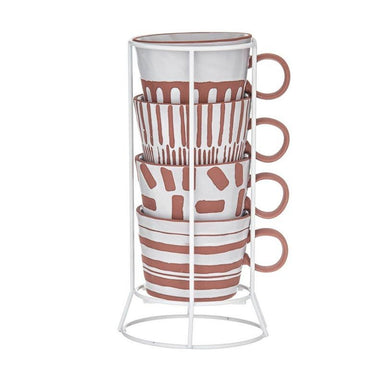 Davis & Waddell Zambia Mug Set & Rack | Koop.co.nz