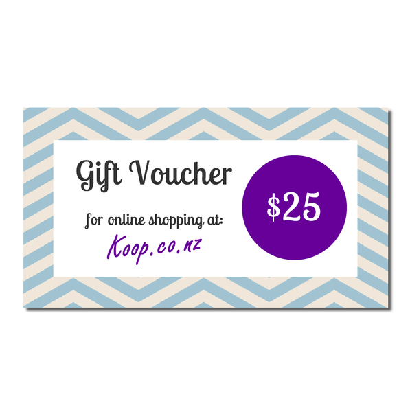 Koop $25 Gift Voucher | Koop.co.nz