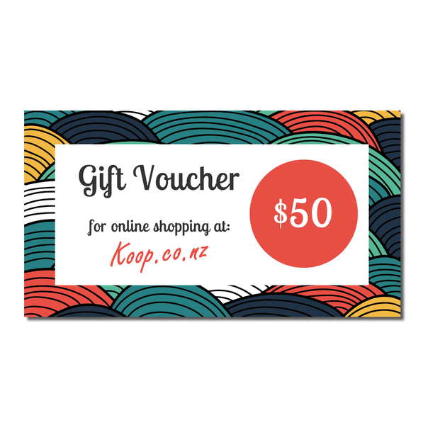 Koop $50 Gift Voucher | Koop.co.nz