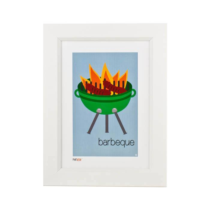 Pint Size Barbeque Print (A4) | Koop.co.nz