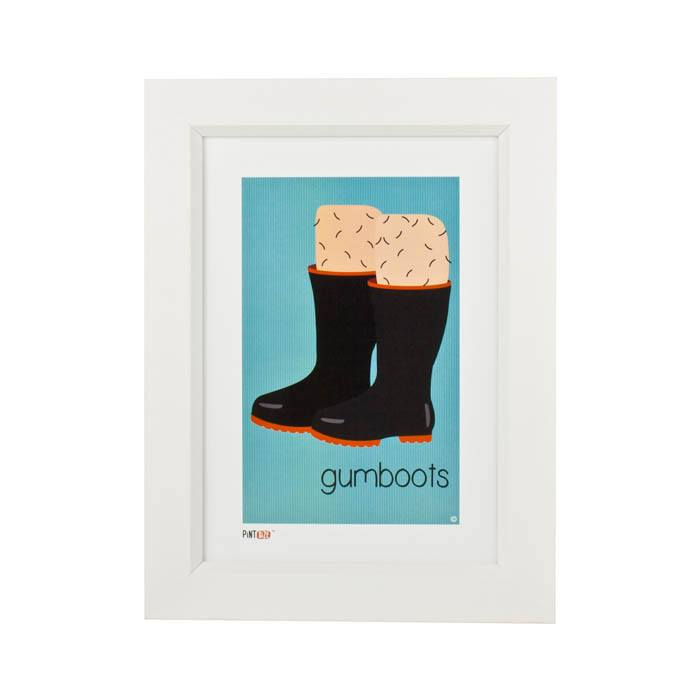 Pint Size Gumboots Print (A4) | Koop.co.nz