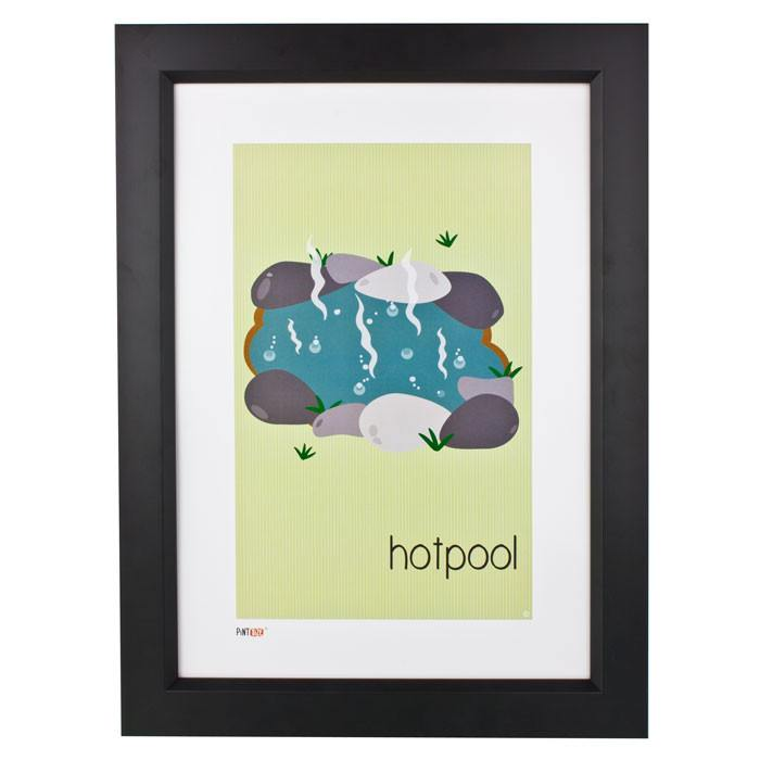 Pint Size Hotpool Print (A3) | Koop.co.nz