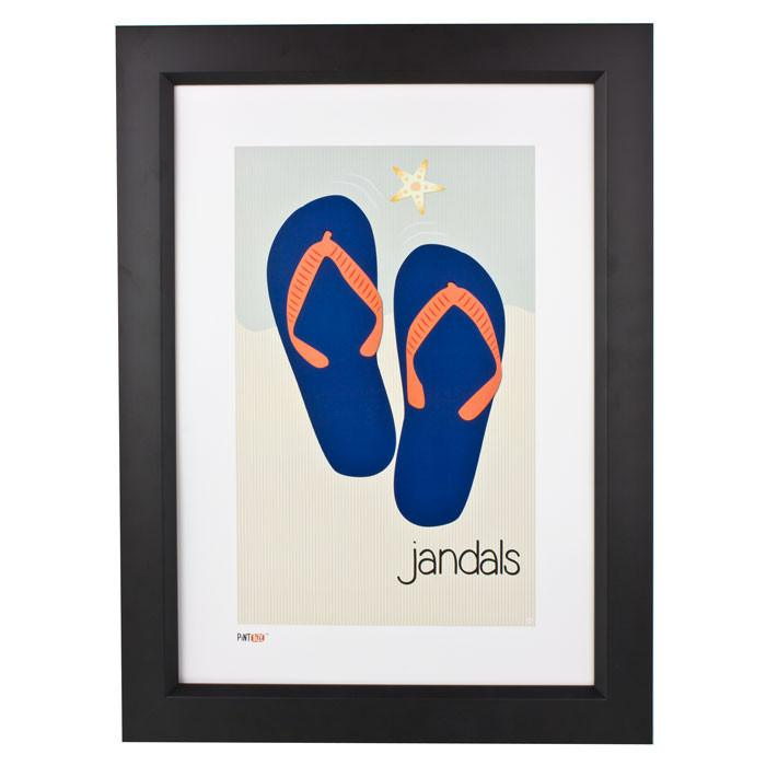 Pint Size Jandals Print (A3) | Koop.co.nz