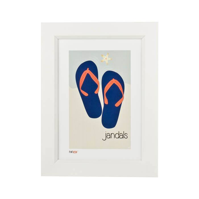 Pint Size Jandals Print (A4) | Koop.co.nz