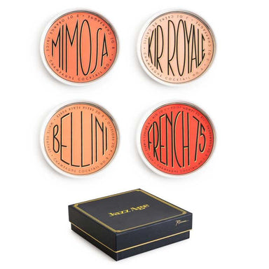 Rosanna Inc Jazz Age Cocktail Coaster Set | Koop.co.nz