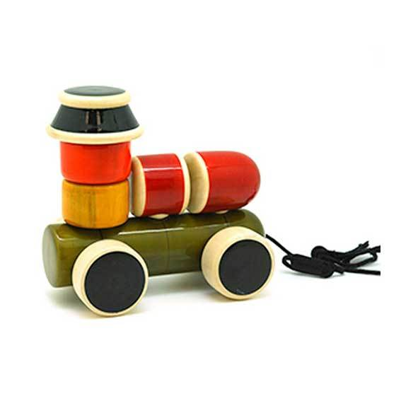 Maya Organic Fair Trade Wooden Stacking Engine | Koop.co.nz