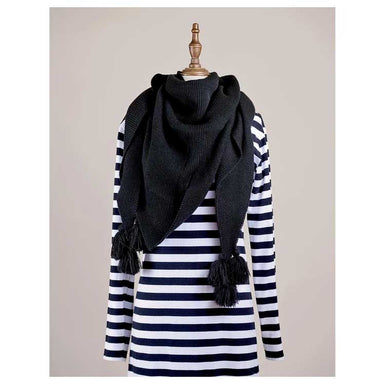 Hello Friday Fiver Tassel Wrap Scarf – Black | Koop.co.nz