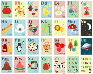 Pint Size Alphabet Wall Frieze - Day Dreams | Koop.co.nz
