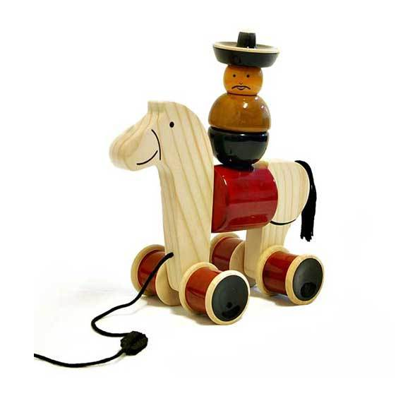Maya Organic Fair Trade Wooden Stacking Hee Haw | Koop.co.nz