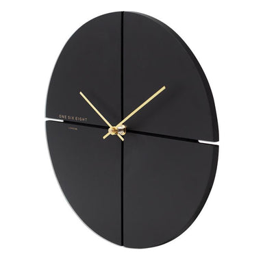 One Six Eight Liam Black Clock (40cm) | Koop.co.nz