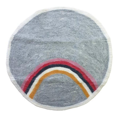 Tik Tak NZ Wool Felt Rug – Rainbow | Koop.co.nz