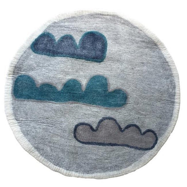Tik Tak NZ Wool Felt Rug – Clouds | Koop.co.nz