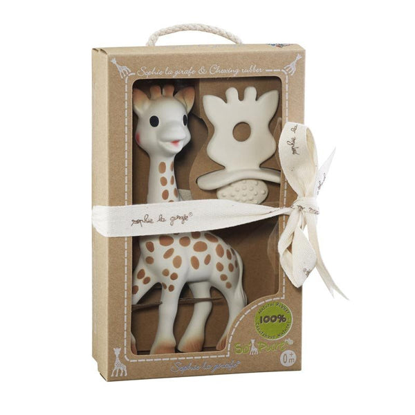 Sophie The Giraffe & Chewing Rubber Teether Gift Set