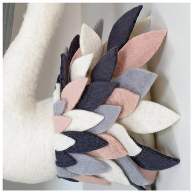 Tik Tak Handmade Wool Wall Swan Head - Grey & Blush | Koop.co.nz